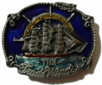 The Trade Winds Clipper Ship Belt Buckle + display stand. Code AH6